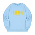 블론드나인() 1984 YELLOW LOGO SWEATSHIRT_SKY BLUE