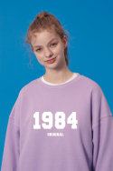 블론드나인(BLOND9) 1984 WHITE LOGO SWEATSHIRT_PURPLE