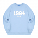 블론드나인() 1984 WHITE LOGO SWEATSHIRT_SKY BLUE