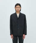 에이카화이트(AECA WHITE) DOUBLE POCKET RELAXED BLAZER-BLACK
