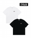 5252 바이 오아이오아이(5252BYOIOI) ORIGINAL LOGO 2 PACK T-SHIRTS_multi
