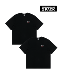 5252 바이 오아이오아이(5252BYOIOI) ORIGINAL LOGO 2 PACK T-SHIRTS_black