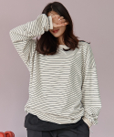 써치410(SEARCH410) [UNISEX] STRIPE LONG SLEEVE T_IVORY