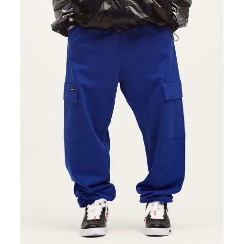배드팩토리(BAD FACTORY) SMILE CARGO SWEAT PANTS 블루 CNPA0EY02B2