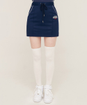 5252 바이 오아이오아이(5252BYOIOI) PIPING POINT TRACK SKIRT_navy