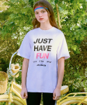 로라로라(ROLAROLA) (TS-20153) JUST HAVE FUN T-SHIRT WHITE
