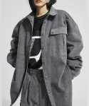 이에스씨 스튜디오(ESC STUDIO) Denim pocket shirt (grey)