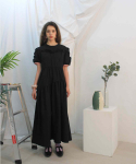 딜라이디(DELIDI) Darin shirring dress (black)