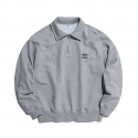 에스피오나지(ESPIONAGE) HDWK Quarter Zip Sweat Shirt Grey