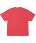 디스이즈네버댓(THISISNEVERTHAT) Overdyed INTL. Logo Tee Red