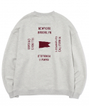 이벳필드(EBBETSFIELD) CITY COLLABORATION CREWNECK LIGHT GRAY