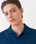 Pique Collar T-Shirt - Classic Blue
