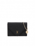 조셉앤스테이시(JOSEPH&STACEY) Easypass Amante Card Wallet with Chain Rich Black