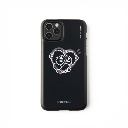 어피스오브케이크(APOC) Hug Bear Phone Case_Black