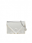 조셉앤스테이시() Easypass Amante Card Wallet with Chain Mirror Silver