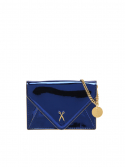 조셉앤스테이시(JOSEPH&STACEY) Easypass Amante Card Wallet with Chain Mirror Blue