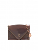 조셉앤스테이시(JOSEPH&STACEY) Easypass Amante Card Wallet with Chain Mirror Brown