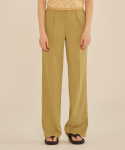 써틴먼스(13MONTH) SEMI WIDE BASIC PANTS (GREEN)