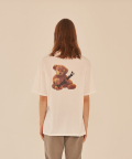 HUG ME TEDDY BEAR T-SHIRT (WHITE)