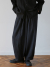 말렌(MALEN) unisex linen button balloon pants black