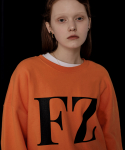 퓨자(FUZA) FZ LOGO BASIC SWEATSHIRT_ORANGE