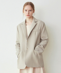 닉앤니콜(NICK&NICOLE) Solid Basic Single jacket_Light Khaki