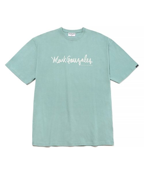 마크 곤잘레스(MARK GONZALES) M/G SIGN LOGO T-SHIRTS VINTAGE GREEN