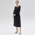 언에디트() Volume Square Neck Dress_BK