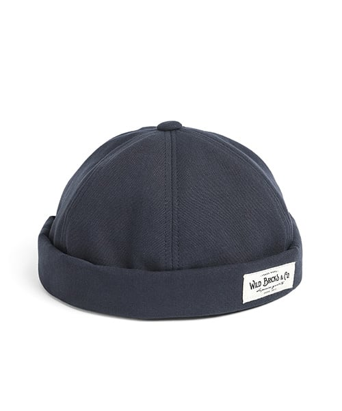 와일드 브릭스(WILD BRICKS) BI OXFORD BRIMLESS CAP (navy)
