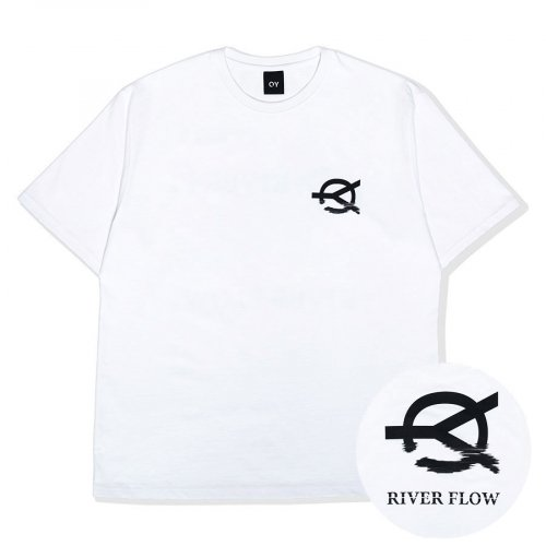 오와이(OY) RIVER FLOW LOGO T-WHITE