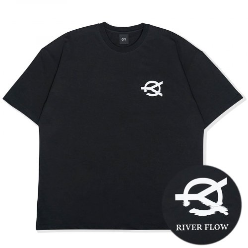 오와이(OY) RIVER FLOW LOGO T-BLACK