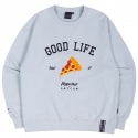 로맨틱크라운(ROMANTIC CROWN) [PIZZAHUT X RMTCRW]GOOD LIFE SWEAT SHIRT_SKY BLUE