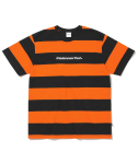 디스이즈네버댓(THISISNEVERTHAT) SP-Logo Striped Tee Black/Orange