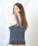 딜라이디(DELIDI) Wave smocking bagⅡ(grayish blue)