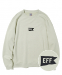 이벳필드(EBBETSFIELD) FLAG CENTER LOGO CREWNECK KHAKI GRAY