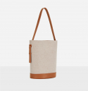 로서울(ROH SEOUL) Juty fabric medium shoulder bag Creamy Tan