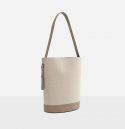 로서울() Juty fabric medium shoulder bag Beige
