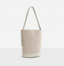 로서울() Juty fabric medium shoulder bag Ivory