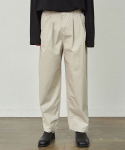 코우코우() Wide Pintuck Cotton Pants_Light beige