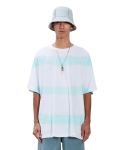 라이풀(LIFUL) STRIPE TIE-DYE TEE snow white