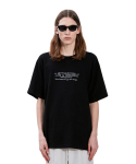 라이풀(LIFUL) WAVY SLOGAN LOGO TEE black