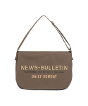 와일드 브릭스() CANVAS NEWSBOY BAG (khaki)