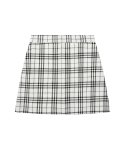 큐리티() C GLITTER CHECK MINI SKIRT_WHITE
