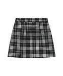 큐리티() C GLITTER CHECK MINI SKIRT_BLACK
