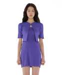 큐리티(CURETTY) C CARDIGAN SET UP DRESS_PURPLE