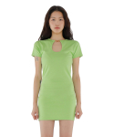 큐리티(CURETTY) C KEYHOLE DETAIL DRESS_YELLOWISH GREEN