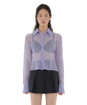 큐리티(CURETTY) C SEE THROUGH BLOUSE_LIGHT VIOLET
