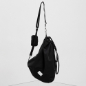 페넥(FENNEC) FABRIC SLING BAG - BLACK