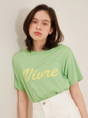 룩캐스트() LIGHT GREEN VIURE LOGO TSHIRT