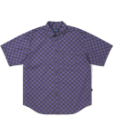 디스이즈네버댓(THISISNEVERTHAT) CS Check S/S Shirt Black/Purple